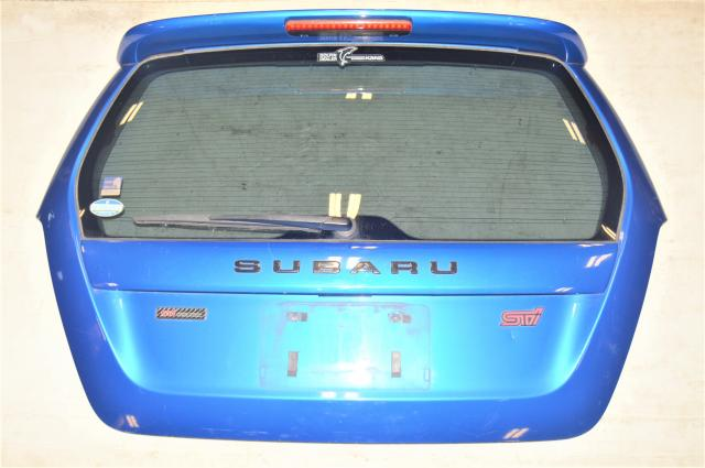 Subaru Forester SG9 STI Rear Hatch in World Rally Blue for 2006-2008