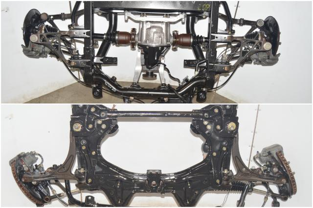 Used JDM Honda S2000 AP1 Front & Rear Subframe with Rear Differential, Hubs, Brakes, Control Arms & Axles for Sale