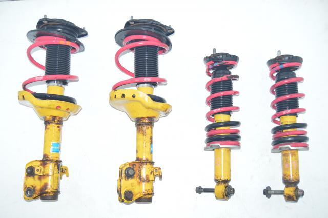 Legacy Outback XT 2004-2009 Bilstein Yellow JDM Suspensions with Pink STi Springs  for Sale
