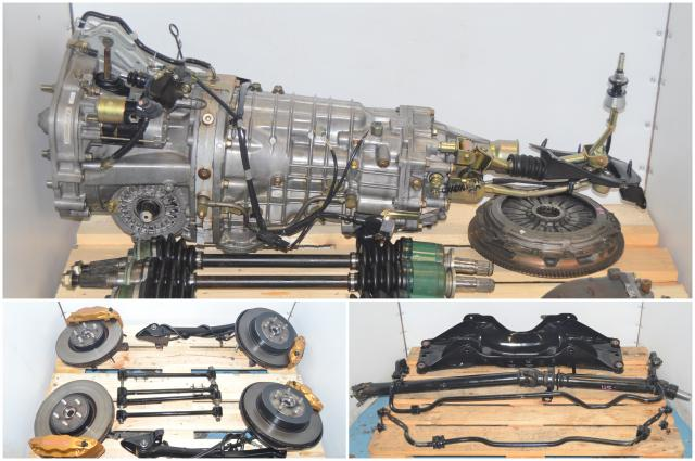 JDM Version 7 TY856WB1CA 6 Speed 2002-2007 STi Complete Transmission Replacement with Brembos, 5x100 Hubs, Driveshaft, Axles and Rear R180 3.9 Differential