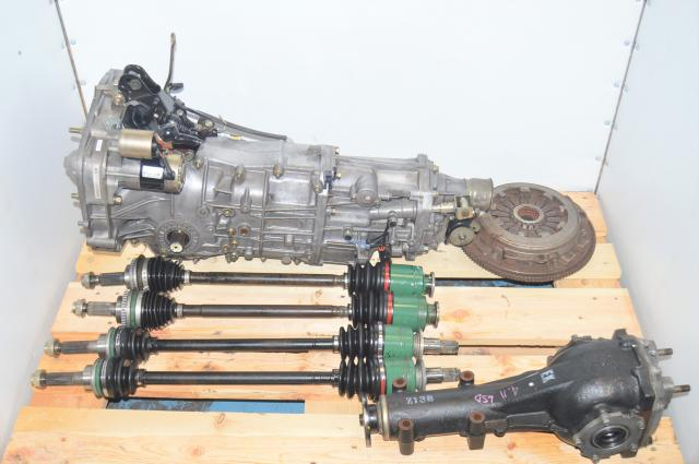 Used Subaru 5 Speed Manual WRX 2002-2005 GD Transmission with Axles, Clutch Assembly & Rear 4.11 LSD R160 Differential