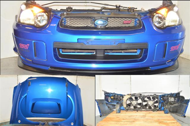Subaru WRX STI Version 8 Blobeye WRB 2004-2005 Front Nose Cut w/OEM Lip