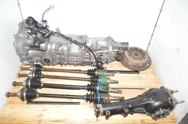 5 Speed WRX 2002-2005 Used Manual Transmission, Axles, Rear 4.444 Differential & Clutch for Sale