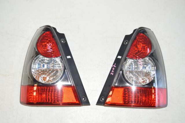 JDM Subaru Forester STI SG9 Rear Black and Red Tail Lights for 2004-2008 Models