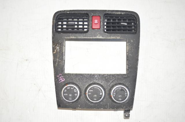 Subaru Forester SG9 STI JDM interior HVAC Center Console Controller and Trim for Sale