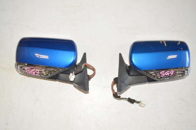 Subaru Forester JDM SG9 STI Exterior Power Folding Mirrors for 2004-2008 Models in WRB