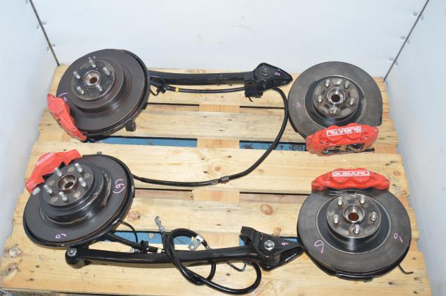 JDM Subaru 5x100 Red Caliper WRX 2002-2005 $ Por 2 Pot Brake Assembly for Sale