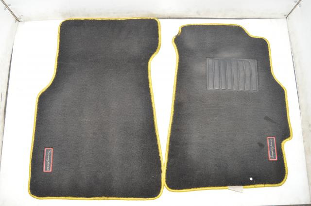 Tommy Kaira Rare Yellow Stitched Interior Carpets for GDA GDB 2002-2007 Impreza WRX & STI Models