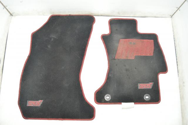 Subaru JDM RHD 2015+ VA Interior Red Stitched & STI Logo Interior Carpets for 2015-2019 Models