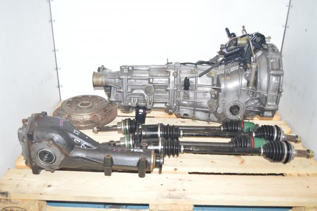 JDM 4.444 Gear Ratio 5-Speed Manual WRX 2002-2005 Subaru Transmission Swap for Sale with Axles, Rear Diff & Clutch Assembly