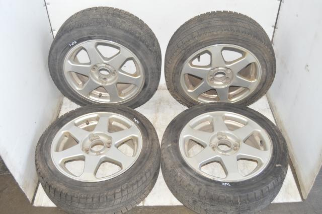 Universal Honda Integra Civic 4-Bolt 4x114.3 Wheels with Mixed Winter Tires for sale