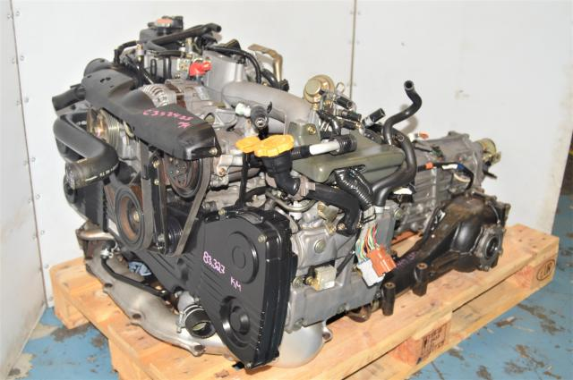 Used Subaru DOHC WRX 2002-2005 EJ205 2.0L AVCS Engine with TD04 Engine & 4.444 5-Speed Transmission with Rear LSD