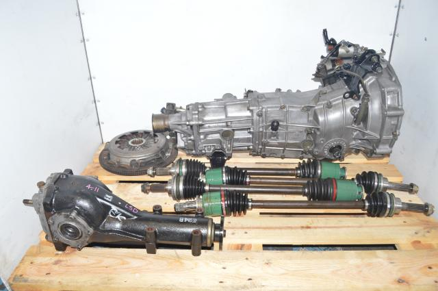 Used Subaru 5 Speed Manual Transmission with Rear 4.11 LSD, GD Axles & Pull-Type Clutch for Sale