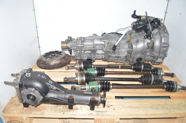 JDM Subaru WRX 2002-2005 Pull-Type 5MT with GD Axles, Clutch Assembly & Rear 4.444 Differential for Sale