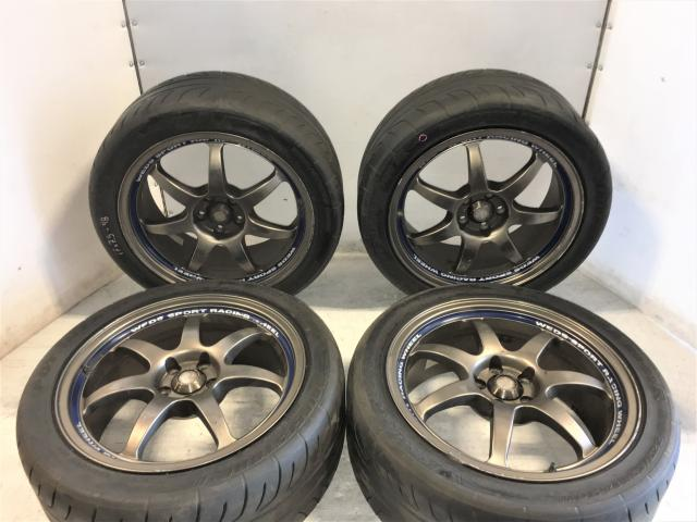 5x100 Weds Sport SA90 17x7.5 et48 Wheels w/Potenza RE01 Tires For Sale