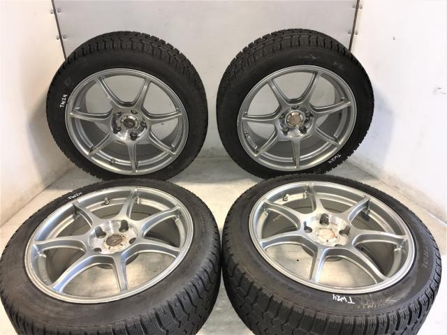 Enkei Racing RS+M 5x114.3 Silver Wheels For Sale For 2005-2007 STI