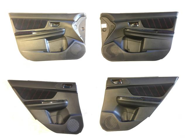 2015+ Subaru WRX STI VA Interior Door Panels in Black Alcantara