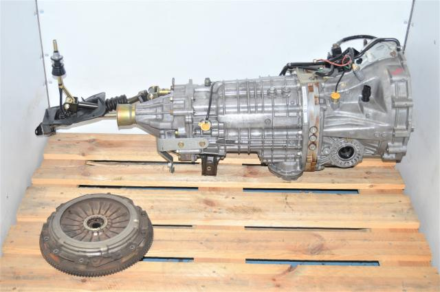 Used Subaru JDM TY856WB7KA Version 9 STi DCCD 6-Speed Transmission for Sale with Used Manual Clutch Assembly