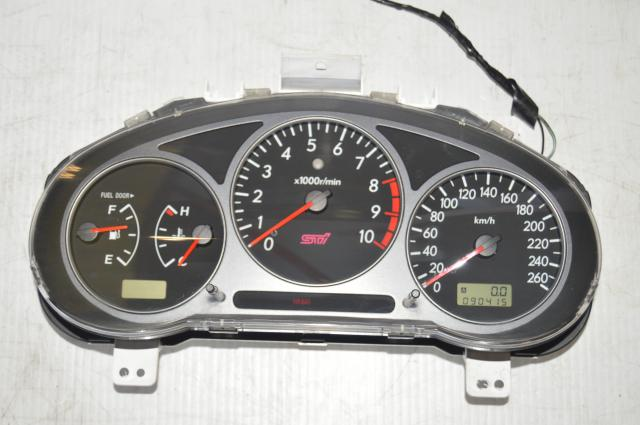 Subaru WRX STI Version 7 Speedometer 10k RPM Rare Instrument Cluster w/Shift Light & DCCD for 2002-2007 Models