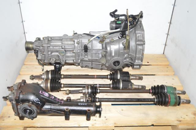 JDM Subaru WRX 2006+ Push-Type 5 Speed Transmission Replacement Swap with Axles & Rear LSD Differential
