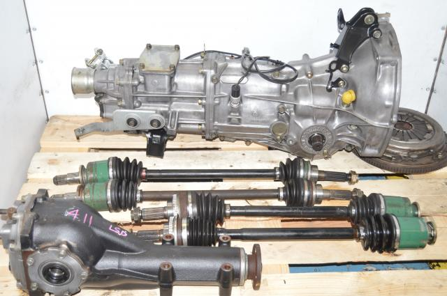 Used Subaru JDM 5 Speed Push-Type Transmission for Sale with GD Axles & 4.11 Rear Diff