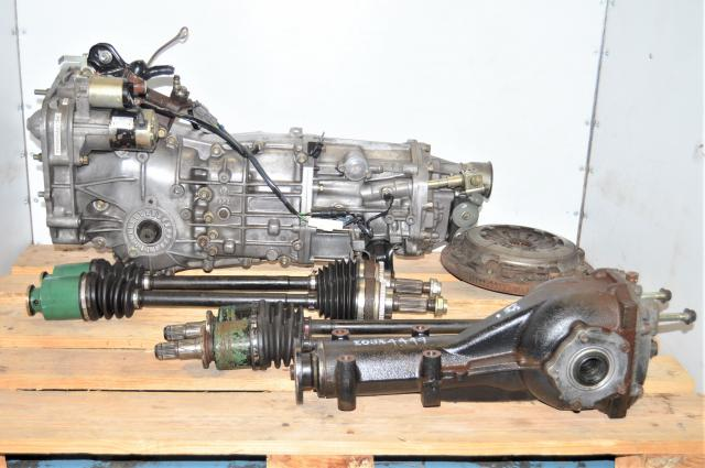 JDM WRX G 2002-2005 5 Speed Manual Replacement Transmission with Axles, Rear Differential & Pull-Type Clutch Assembly