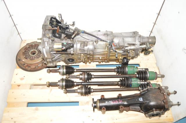 5 Speed WRX Used JDM 2002-2005 GD Manual Transmission with Axles, Clutch & 4.444 Rear Differential