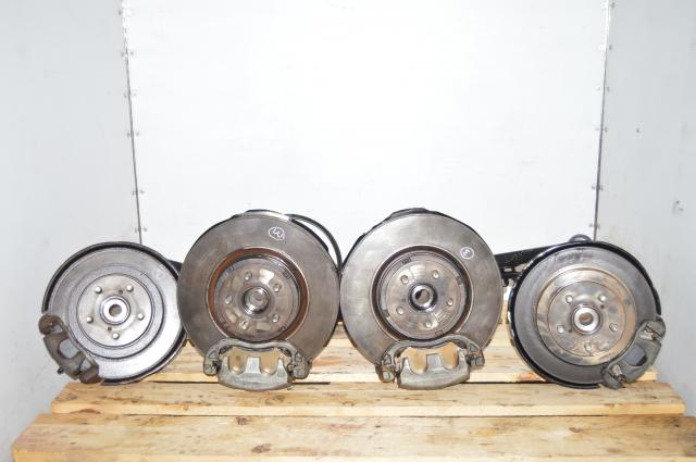 2002-2005 Subaru WRX OEM Complete Brake Replacement Assembly Hubs, Rotors, Pads, Calipers