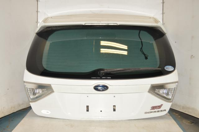 Subaru Version 10 GRB Hatch Tail Gate Assembly w/Spoiler in Aspen White for 2008-2014 WRX & STI Hatches