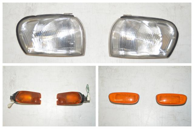 Subaru GC8 WRX & STI Front Lights Package: Side Fender Indicators, Front Corners and Lower Turn Signals