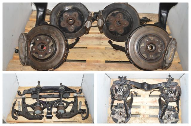 Nissan Skyline R32 GTR Front 4 Pot & 2 Pot Rear Brakes w/Hubs, Control Arms, Axles & Accessories