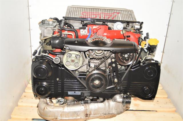 Used Version 8 STi 2002-2007 EJ207 JDM AVCS 2.0L Twin Sroll Turbocharged Engine, Intercooler & Downpipe for Sale