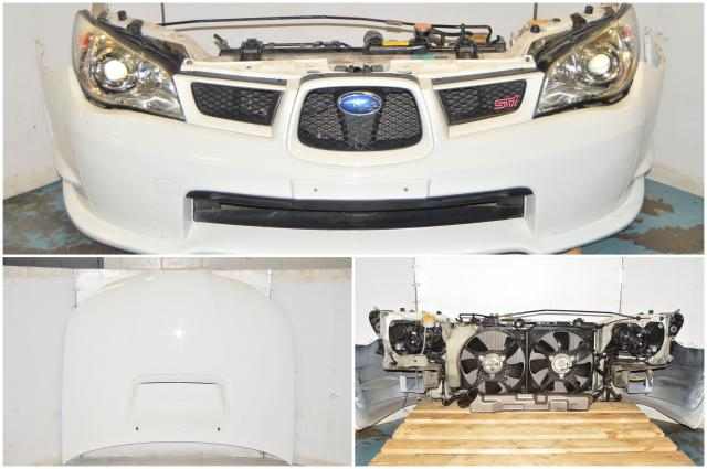 JDM Subaru WRX STi GDB 2006-2007 Version 9 Hawkeye Complete Front End Conversion with Fenders, Front Bumper, Hood, Rad Support & Headlights for Sale