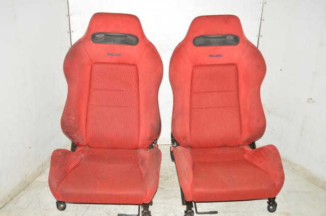 Used JDM Honda / Acura RECARO Red DC2 Left & Right Seats for Sale (Test Product)
