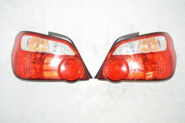 Version 8 Subaru WRX STI Red Rear Tail Lights For Sale for 2002-2007 Subaru Impreza WRX & STI