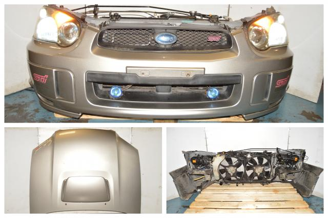 Subaru WRX STI Version 8 Blobeye Complete Front Nose Cut w/Fender, Hood, Splitter, Scoop HIDs, Rad & Support for 04-05 Models