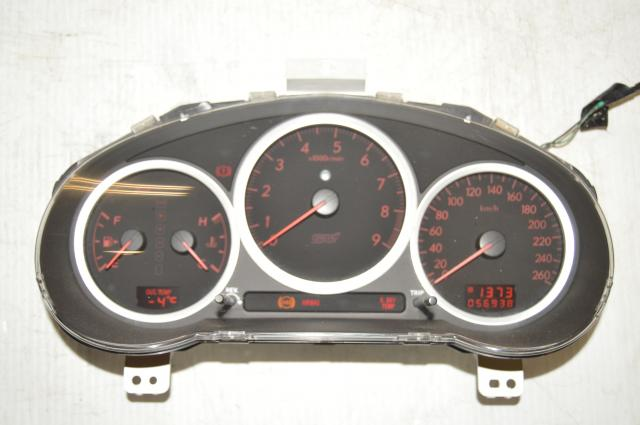 Used Subaru Version 9 DCCD 260 KM/h STi Manual Gauge Cluster for Sale
