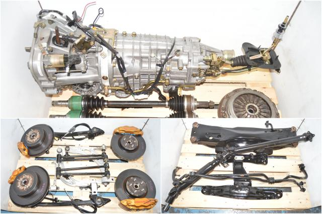 JDM Subaru STi TY856WB4KA Version 8 DCCD 6-Speed Transmission Swap with 5x100 Hubs, Brembos, DriveShaft, Sway Bars, Crossmember & 4 Corner Axles for Sale