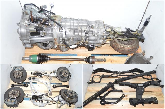JDM Subaru Legacy Spec-B 6-Speed TY856WBDAA Manual Transmission Swap with Hubs, Calipers, Driveshaft, LGT Axles & Rear R180 Torsen Differential