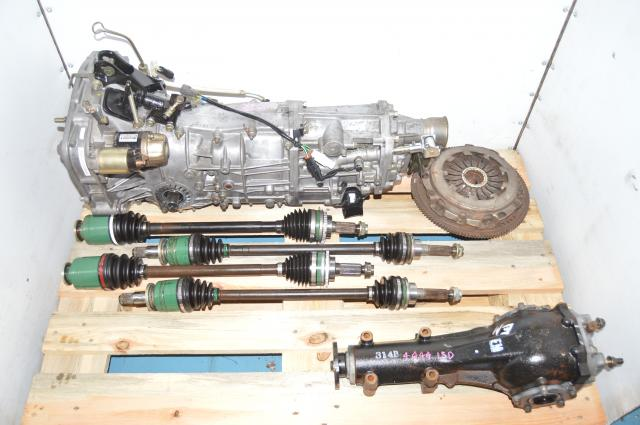 Used JDM 5-Speed Manual Transmission WRX 2002-2005 with Rear 4.444 LSD & 4 Corner Axles