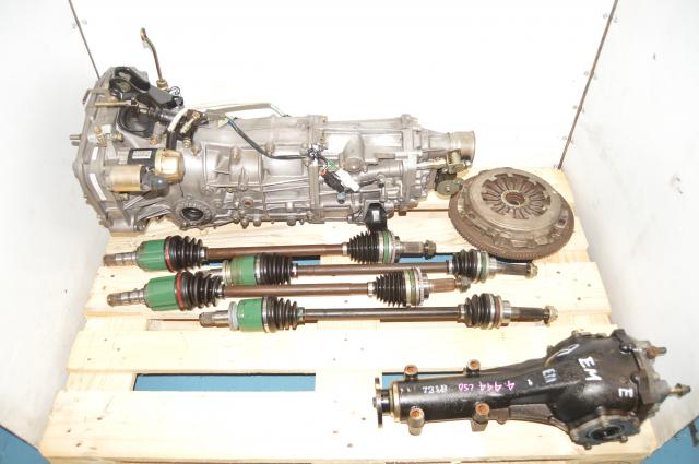 Used JDM WRX 2002-2005 5 Speed Manual Transmission with 4 Corner Axles, CLutch & Rear 4.444 LSD