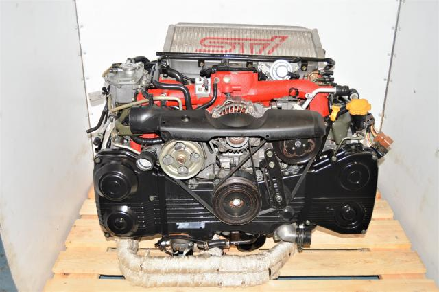 GDB STi JDM Version 8 EJ207 2.0L 2002-2007 Twin-Scroll Engine for Sale with Aftermarket Headers & Intercooler