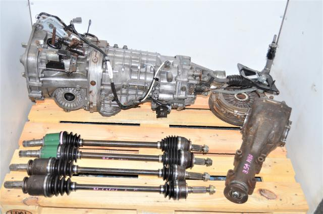 Used JDM Legacy Spec-B 6-Speed Manual Transmission with R180 Rear Torsen 3.54 Differential, Axles, Clutch & Driveshaft for Sale