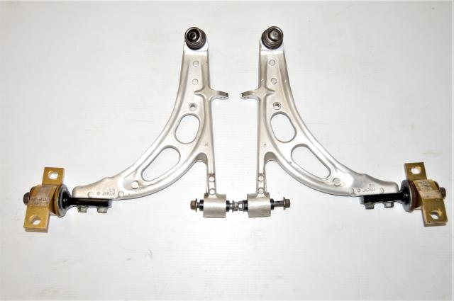 JDM Used Subaru Forester SG5 SG9 03-08 Aluminum Front Lower Control Arms for Sale with Aftermarket Mounting Bracket