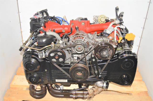 Used 2.5L DBW EJ255 Forester STi 2004-2007 DOHC Engine with Aftermarket Headers for Sale