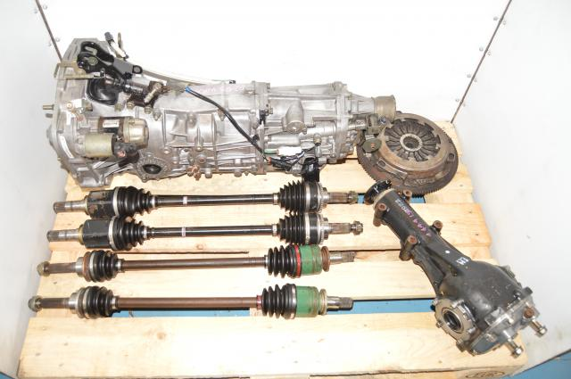 JDM WRX GD 2.0L 2002-2005 Replacement Manual Transmission Swap with Axles, Rear 4.444 LSD & Clutch Assembly