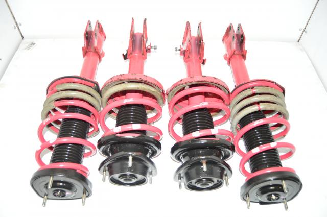 JDM STi Version 8 2004-2007 Pink 4-Way Adjustable Suspensions Kit with 5x114.3 Bolt Pattern for Sale