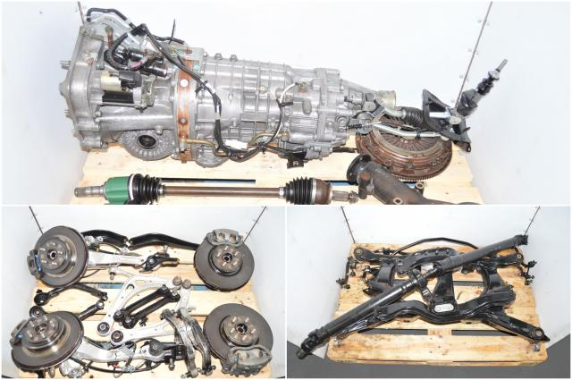 JDM Legacy Spec-B 6 Speed TY856WBDAA Complete Transmission Swap with Rear 3.54 Torsen Diff, Driveshaft, Axles, Hubs, Calipers & Aluminum Control Arms for Sale