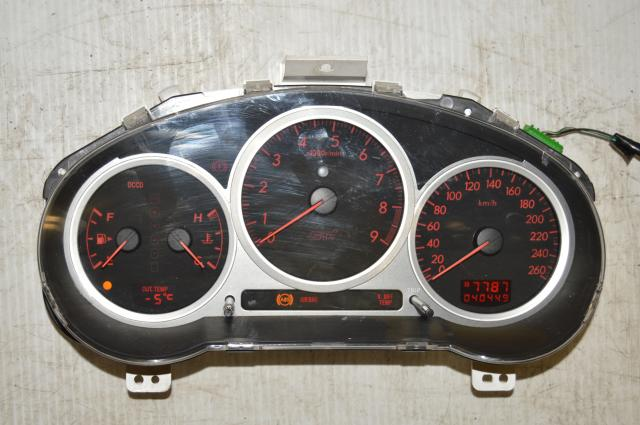 Used Subaru JDM 260 KM/h DCCD Manual Instrument Gauge Cluster Assembly Defi