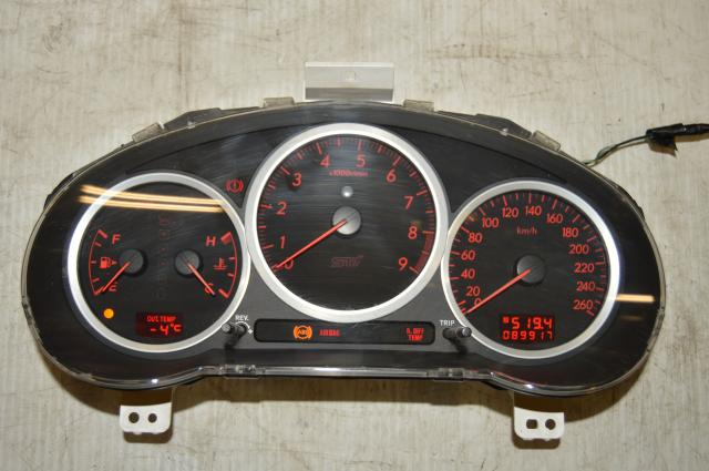Used Subaru STI Version 9 260 KM/h DCCD Manual Instrument Gauge Cluster Assembly JDM